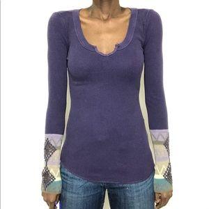 FREE PEOPLE | Purple Kombucha Cuff Thermal Top